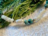 Détail bracelet Turquoise Pearl Delicat.
