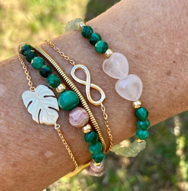 Bracelet Green Raphaël Delicate et 2 hea