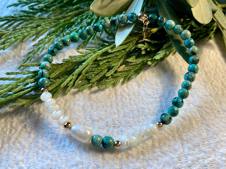 Turquoise Pearl Delicate