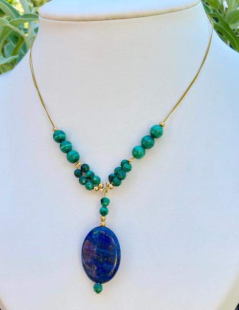Collier Ajna Anahata Lapis lazuli Malach