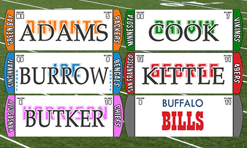*NEW*  2020/21 Football Magnets w/ New Rookie Class