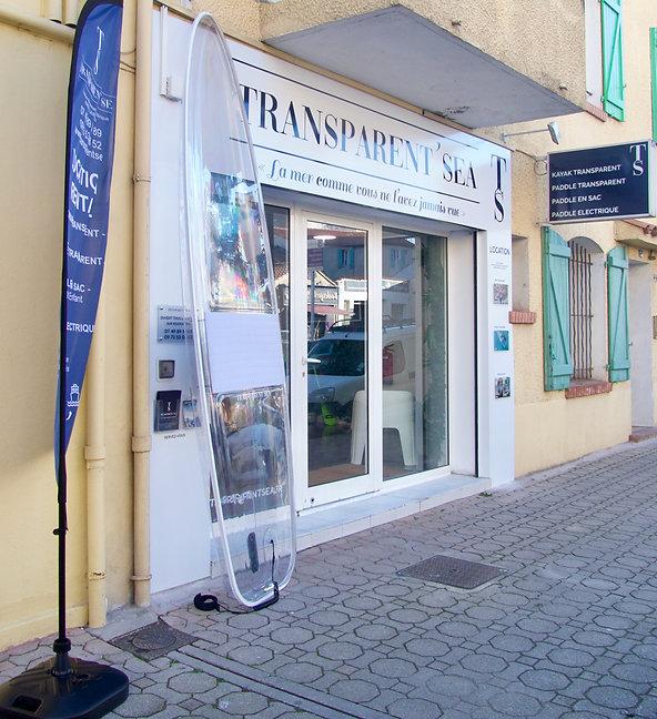 TRANSPARENT'SEA LE LAVANDOU BOUTIQUE ACCUEIL SHOWROOM