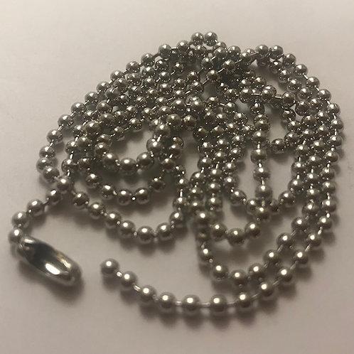 Silver Steel Ball Chain