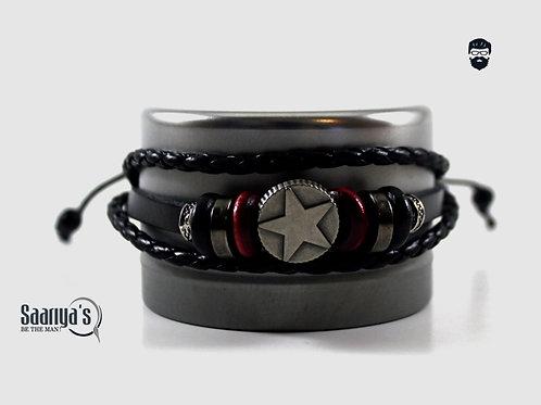 Che Guevera Bracelet Leather and Steel Pendant