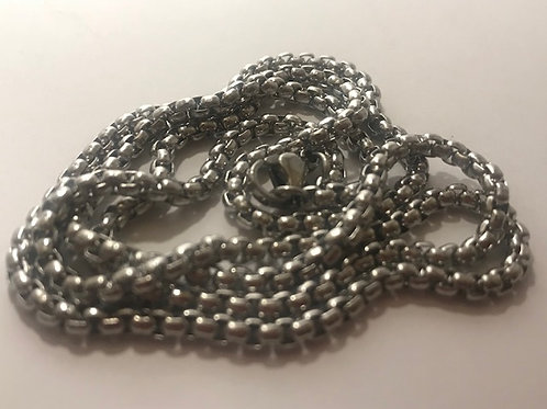 Silver Steel Wrap Steel  Chain