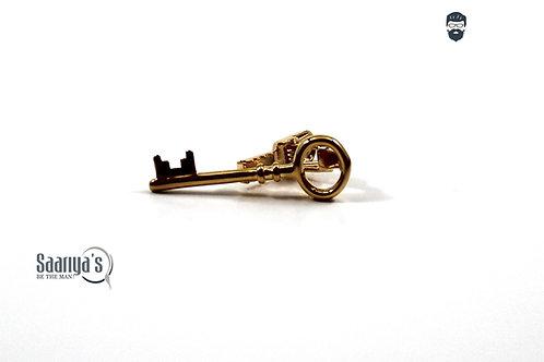 Golden Key 3d Tie Clip