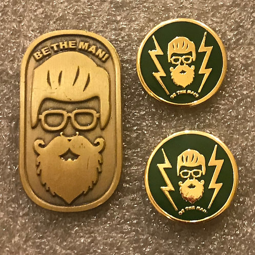 Be the Man Lapel & Cufflinks Green