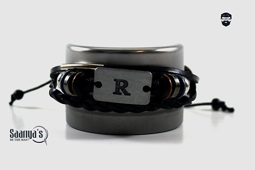 Ricky Bracelet Leather and Steel Pendant