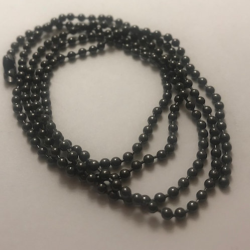 Black Steel Ball Chain