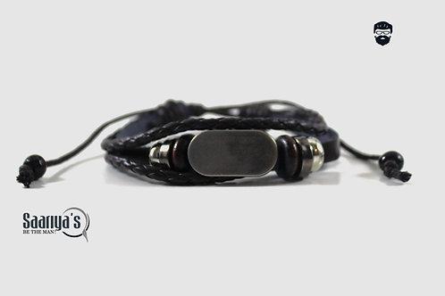 Oasis Bracelet Leather and Steel Pendant
