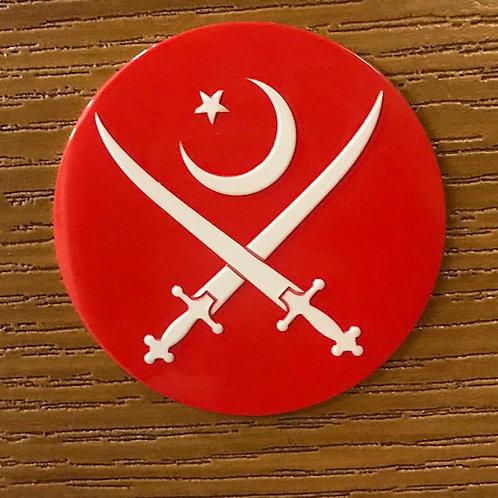 Pakistan Army Red Metal Emblem by Saariya's