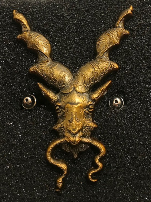 Markhor Antique Golden Lapel pin