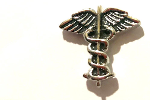 Doctor's Lapel pin  Silver