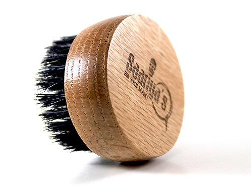 Pearwood Beard Brush with Travel Pack