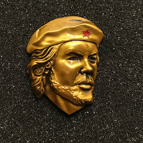 Che Guevara 3d Metal Sculpture Badge