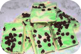 White Chocolate Mint Swirl Fudge