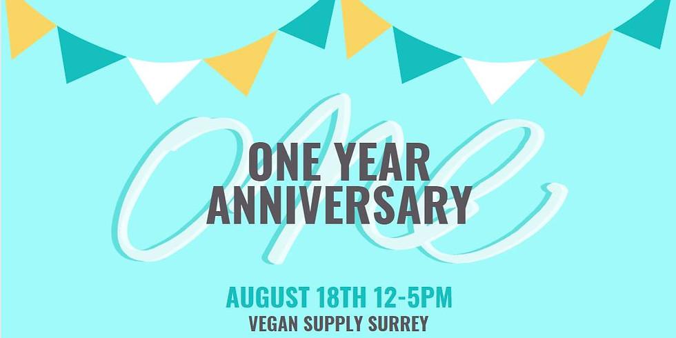 Vegan Supply Surrey 1 Year Anniversary