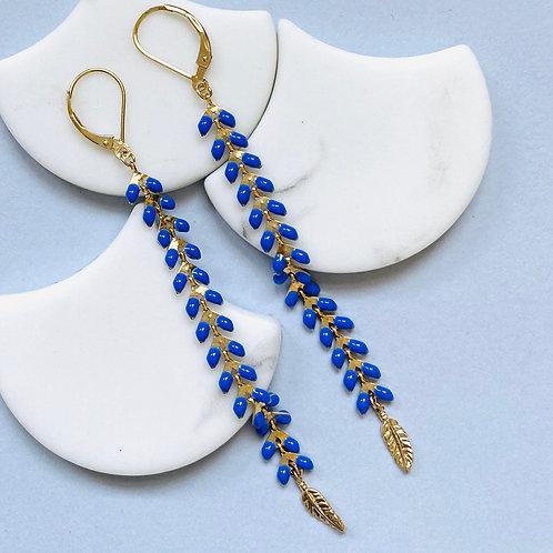 Wisteria Royal Blue Drop Earrings