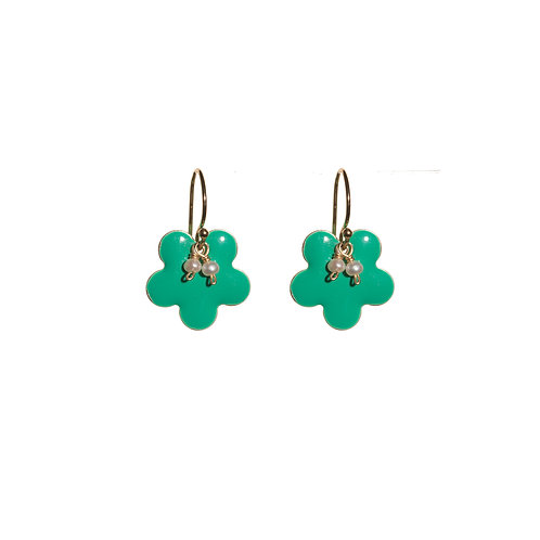 Emerald Sakura Earrings