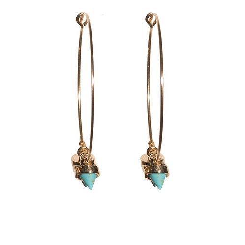 Turquoise Cone Hoops