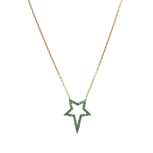 Green Star CZ Necklace