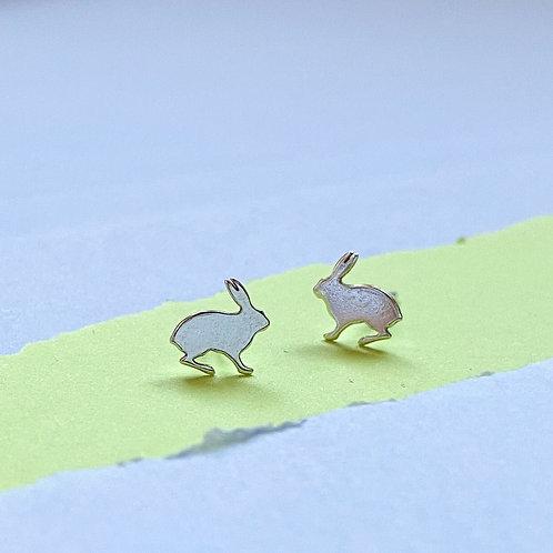 Mini Rabbit Stud Earrings