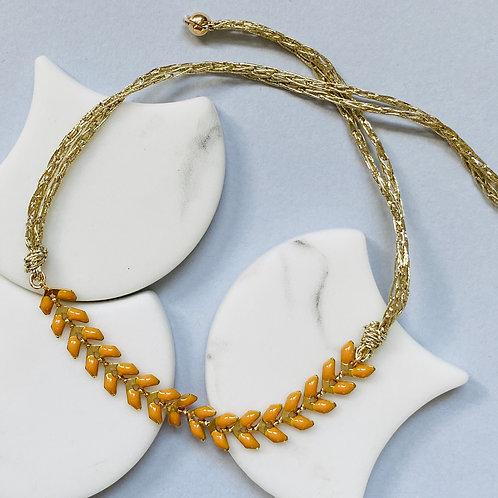 Wisteria Ochre Yellow Friendship Bracelet