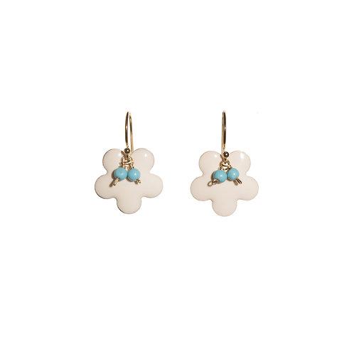 White Sakura Earrings