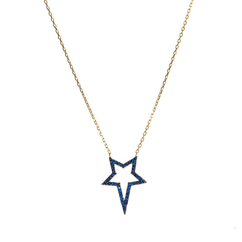 Navy Star CZ Necklace