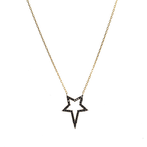 Black Star CZ Necklace