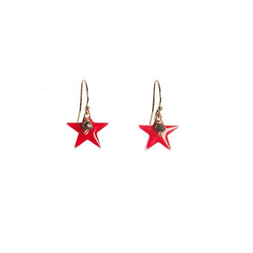 Red Pop Star Earrings