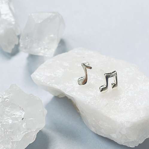 Mini Music Note Stud Earrings