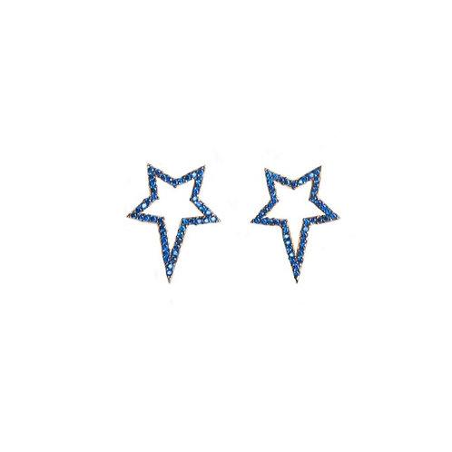 Navy Popstar Studs