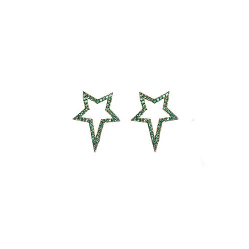 Green Popstar Studs