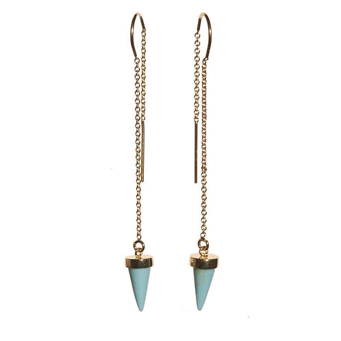 Turquoise Cone Ear Threaders