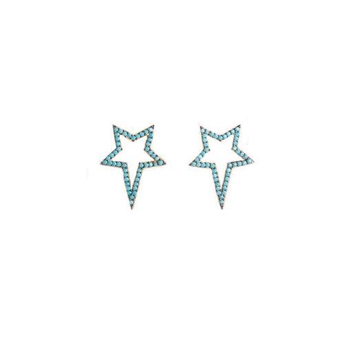 Turquoise Popstar Studs