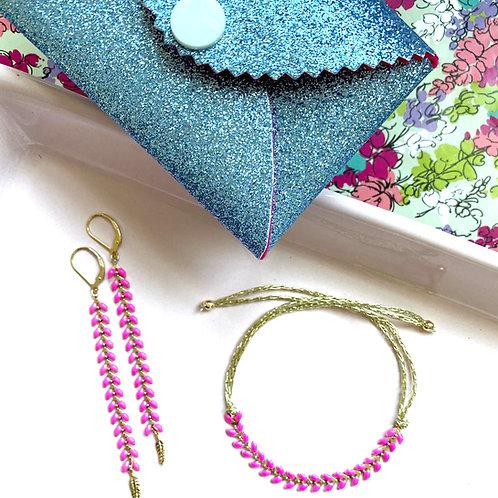 Wisteria Bracelet & Earring Set