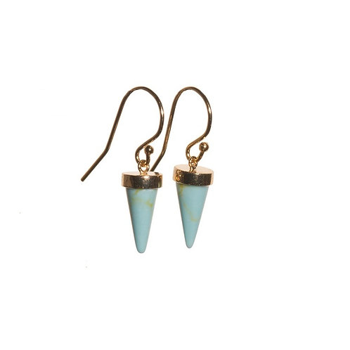 Turquoise Cone Earrings