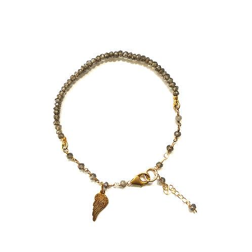 Smoky Quartz Angel Bracelet