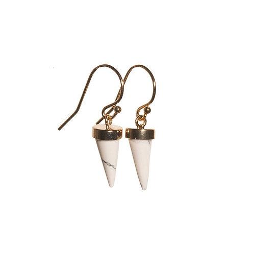 White Cone Earrings