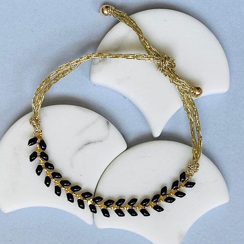 Wisteria Black Friendship Bracelet