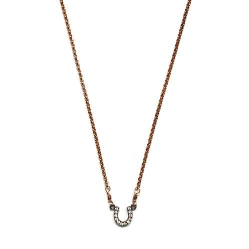 Rose Gold Filled Horseshoe Necklace