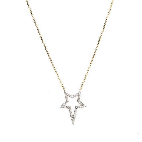 White Star CZ Necklace