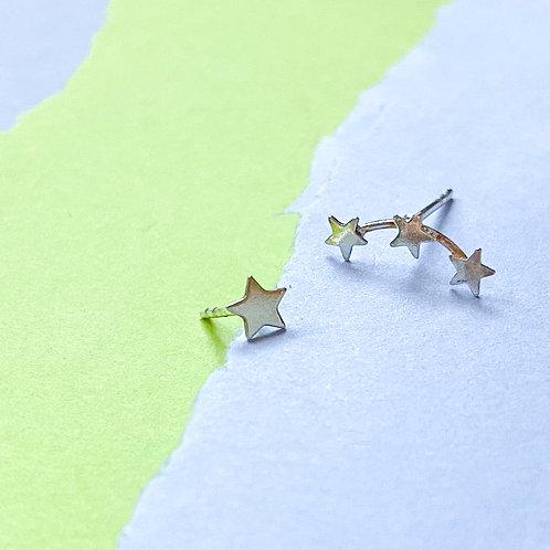 Mini Star Creeper Stud Earrings