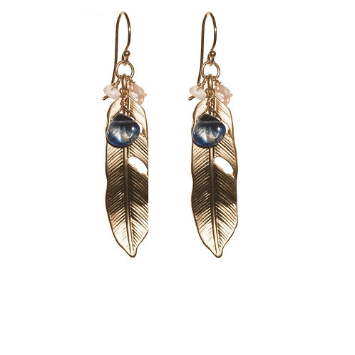 Light Feather Kyanite Earrings
