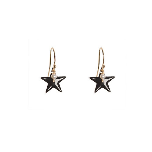 Black Pop Star Earrings