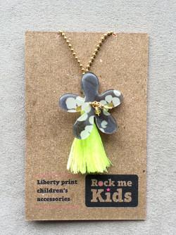Liberty Flower Tassel Necklace