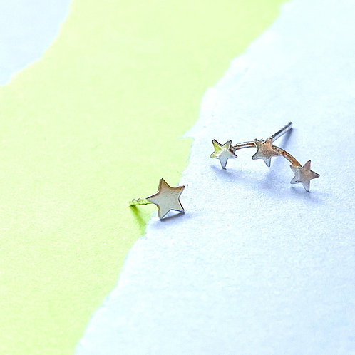 Mini Star Creeper Stud Earrings