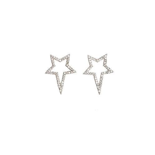 Silver Popstar Studs