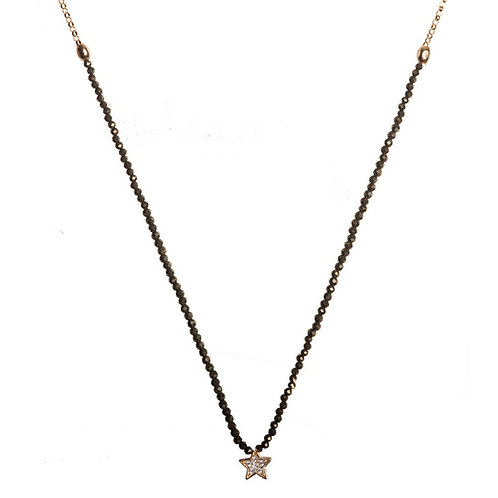 Pyrite Star Necklace